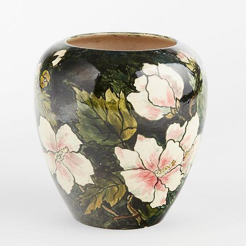 Attributed Pauline Jacobus Studio Pottery Flower Vase 1883