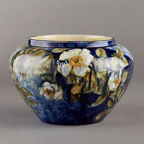 Limoges Style Art Pottery Vase 1880s Signed