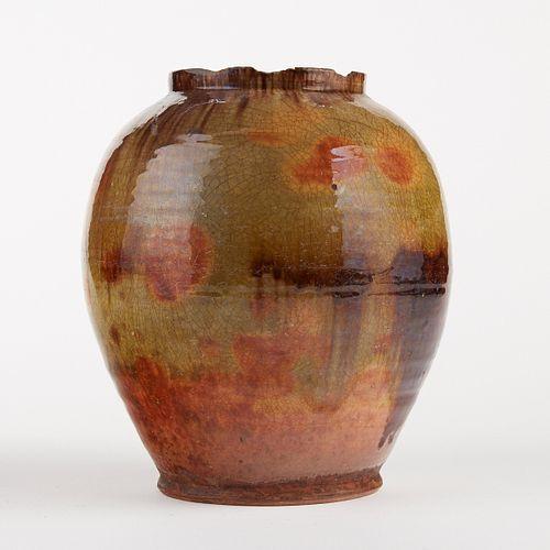 18th/19th c. Bristol County MA Redware Jar