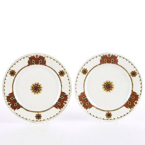 Pair of Kornilov Bros Russian Porcelain Plates