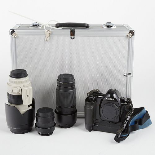 Canon EOS 1-N Camera w/ 3 Zoom Lenses