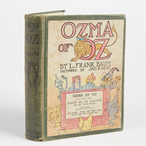 """L. Frank Baum """"Ozma of Oz"""" First Edition"""