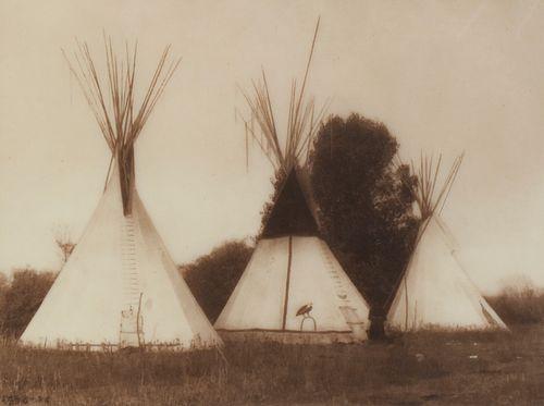 "Edward Curtis ""Apsaroke Camp"" Photograph"