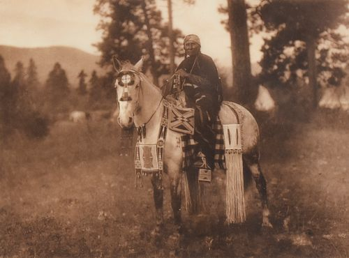 """Edward Curtis """"Flathead Horse Trappings"""" Photograph"""