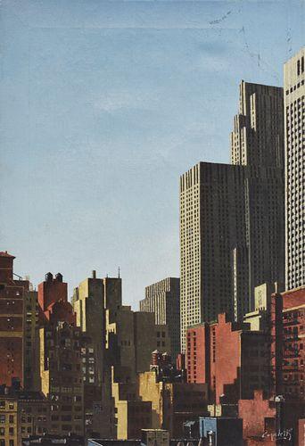 Jose Manuel Capuletti New York Skyline Oil on Canvas