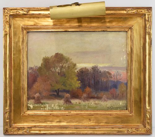 "Nicholas Brewer ""Autumn at Muskeegan"" Oil on Board"