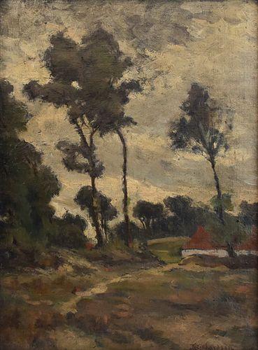 Theodore Richardson Landscape Oil on Canvas