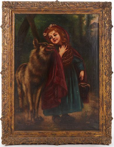 Little Red Riding Hood Painting on Canvas