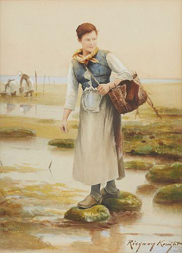 Daniel Ridgway Knight Watercolor & Print