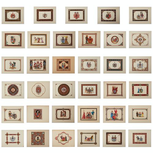 Grp: 35 Coat of Arms Paintings