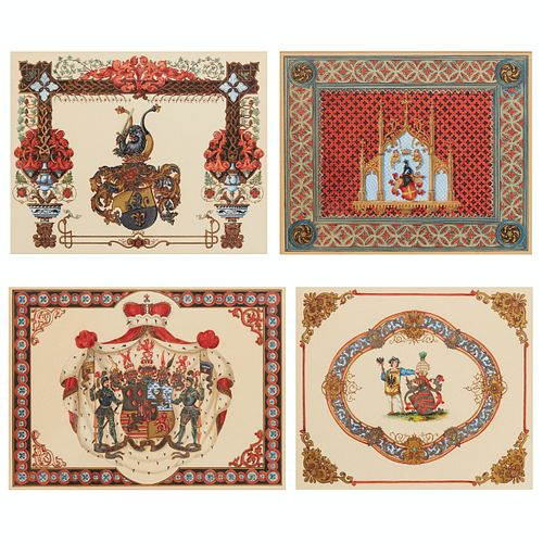 Grp: 4 Coat of Arms Paintings