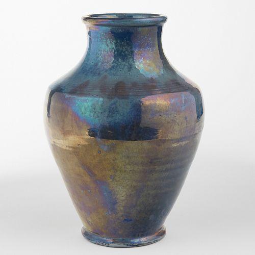 Pewabic Pottery Detroit Arts & Crafts Iridescent Glaze Vase - Large