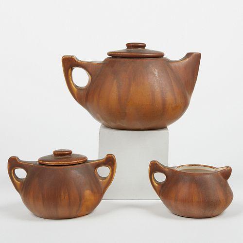 UND North Dakota Pottery Arts & Crafts Tea Set