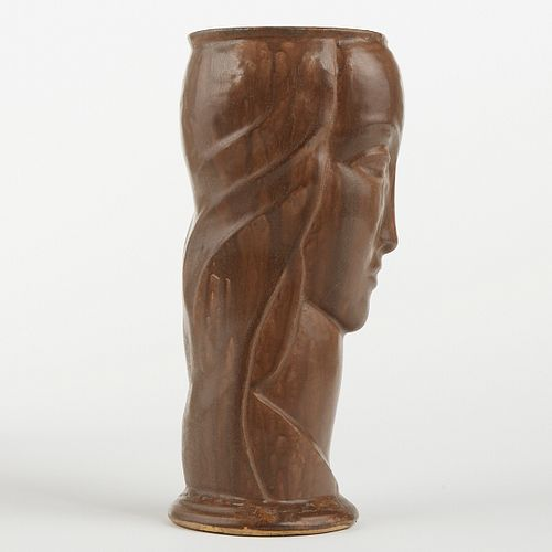 AE Tile Co Ohio Deco Art Pottery Vogue Head Vase