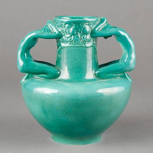 AMACO 20th c. Art Pottery Figural Vase - Rare Adam and Eve
