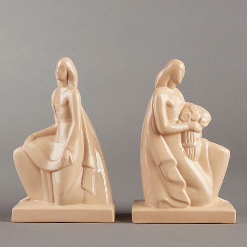 Pair of Lamberton Works Art Deco Female Figures