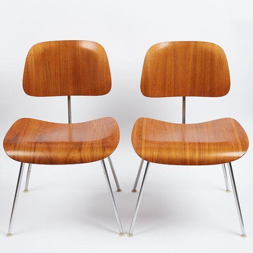 Pair of DCM Eames Herman Miller Chairs