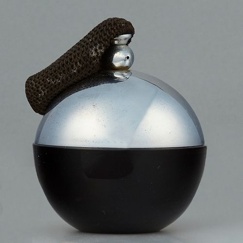 Very Rare Wiener Werkstatte Glass & Metal Perfume Atomizer