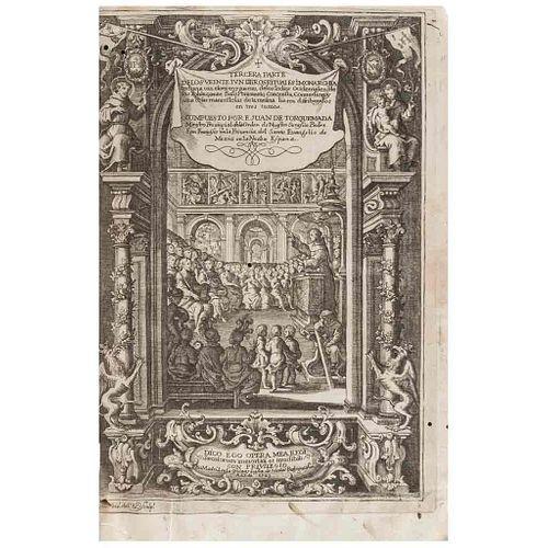 Torquemada, Juan de. Primera, Segunda y Tercera Parte de los Veinte i un Libros Rituales... Madrid, 1723. Tomos I - III. Piezas: 3.