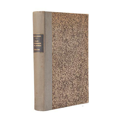 Novo y Colson, Pedro de. Viaje Político - Científico Alrededor del Mundo... Madrid, 1885. Segunda edición. 6 láminas y un mapa.