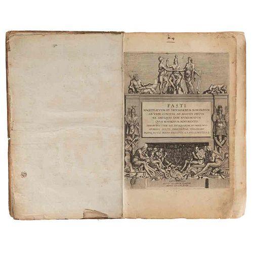 Goltzius, Hubert. Fasti Magistratuum et Triumphorum Romanorum... / Ludovici Nonni Commentarius... 1617/1620. 2 obras en un vol.