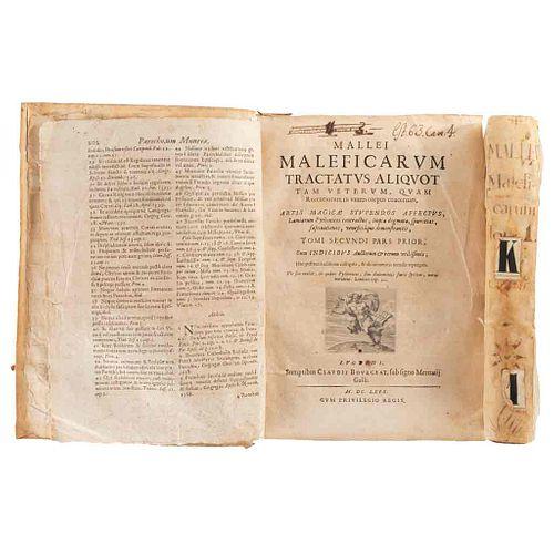 Institoris, Henricus- Nider, Iohannes- Sprenger, Jakob. Malleus Maleficarum (El Martillo de los Brujos).Lugduni,1669.Tomos I-II. Pzs: 2