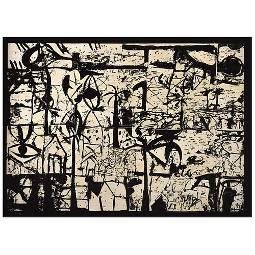 """SERGIO HERNÁNDEZ, Untitled, Signed, Serigraphy P. T. 4 / 4, 28.7 x 40.1"""" (73 x 102 cm)"""