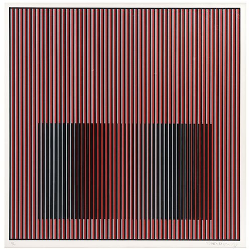 """CARLOS CRUZ - DIEZ, Untitled, Signed and dated 88, Serigraphy 11 / 20, 23.6 x 23.6"""" (60 x 60 cm), Label on back"""