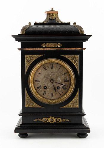LATE 19TH C. GERMAN BAROQUE TOLE BRACKET CLOCK