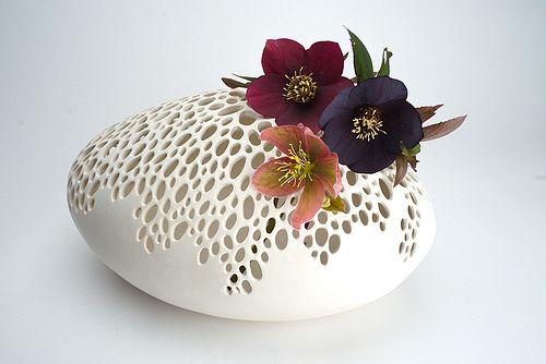 Large Oval Bubble Vase