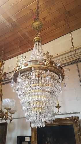 Art Deco Ballroom Crystal Chandelier