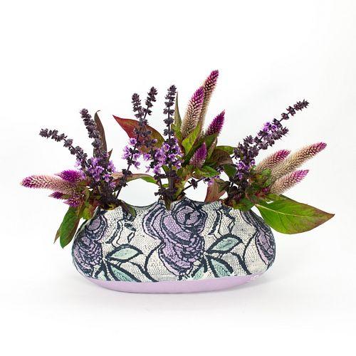 Emilee Lace Oval Vase