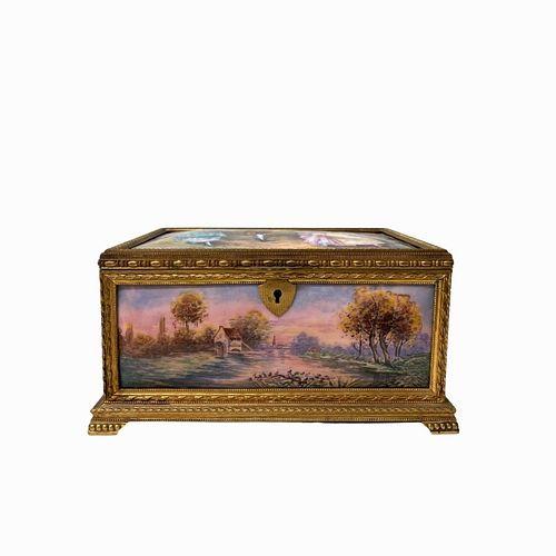 French Porcelain Casket Box
