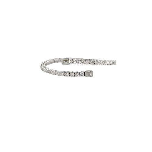 11.18ct Emerald Cut & Round Brilliant Diamond Cuff