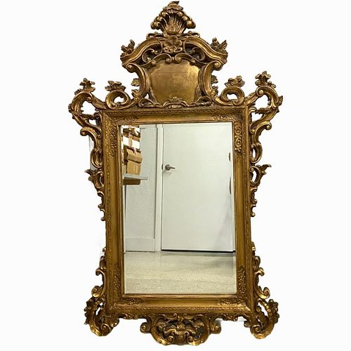 French Gilt Painted Mirror