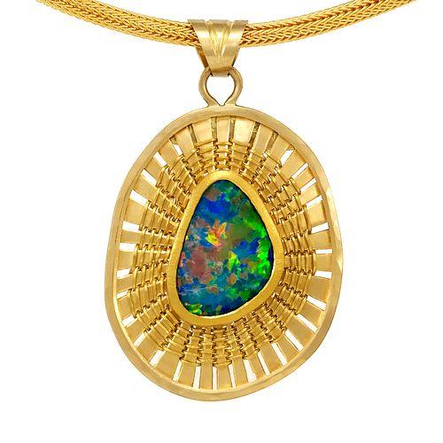 Multi Color Opal Necklace