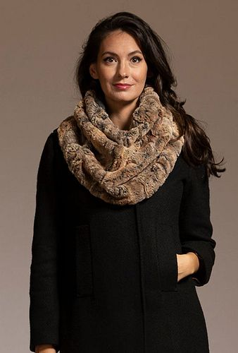 Fur Stole scarf in Red Fox