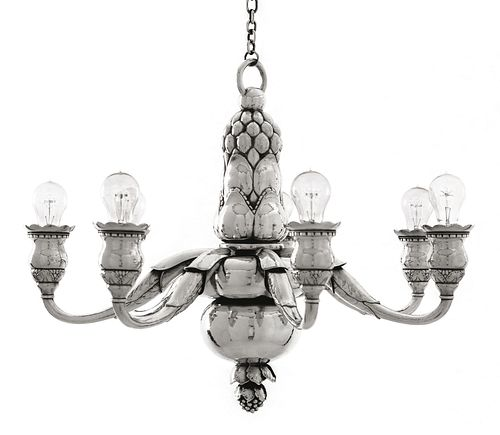 Important and Monumental Georg Jensen Chandelier #316