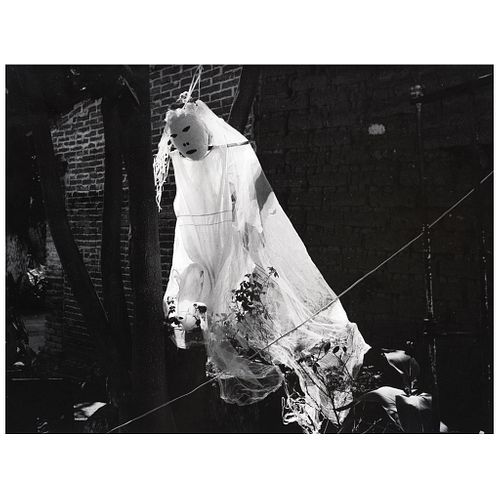 "MARIANA YAMPOLSKY, La novia fantasma, 1999, Signed on back Gelatin silver print, USD $1,270-$1,540 13.5 x 18.1"""