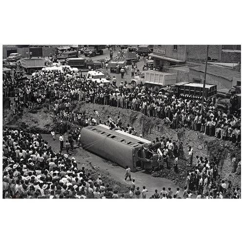 """ENRIQUE METINIDES, Accidente de un autobús, Estado de México, 1972, Unsigned Digital print, 18.8 x 29.1"""" USD $1,450-$1,820"""