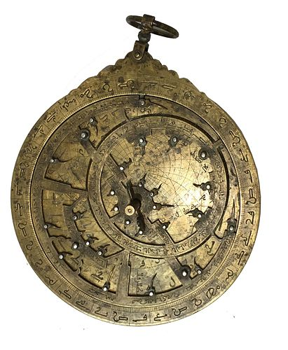 18th/19th century Middle Eastern Islamic Copper Astrolabe.