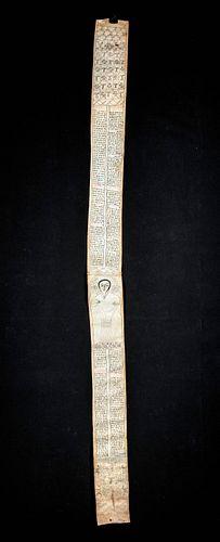 18th C. Ethiopian Healing / Prayer Scroll on Vellum