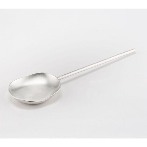 Single Sterling Silver Serving Spoon Flat Bottom Handle Spoon A