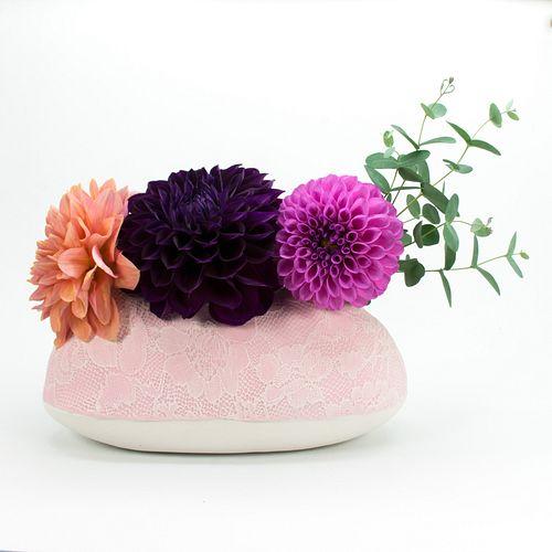 Stephanie Lace Triple Flower Vase