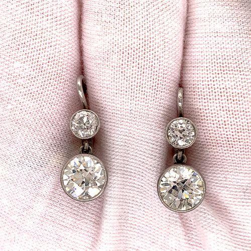 Platinum & 18k Drop EarringsÊ