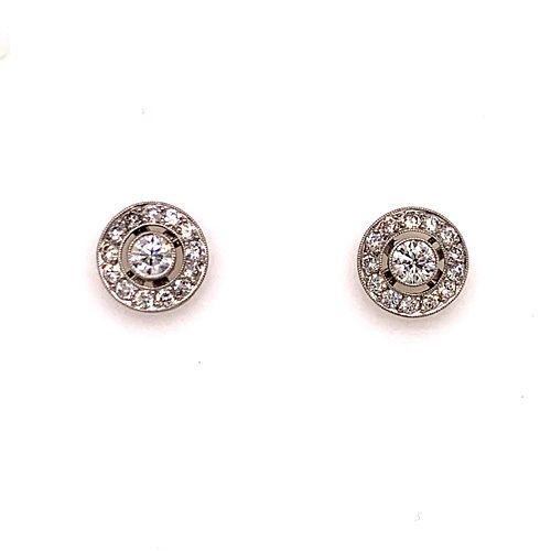 Platinum 14k Diamond EarringÊ