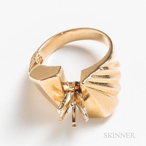 14kt Gold Ring Mount