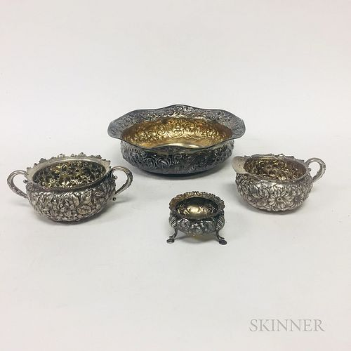 Four Pieces of Gorham Sterling Silver Tableware