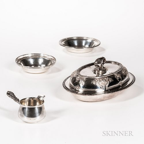 Four Pieces of American Sterling Silver Hollowware