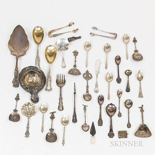 Group of Continental and American Silver Flatware